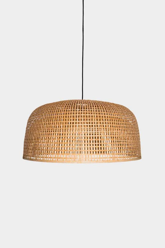 Ay Illuminate Bamboo Pendant Lamp Doppio Grid - Natural - Ø80x41cm - Ay illuminate
