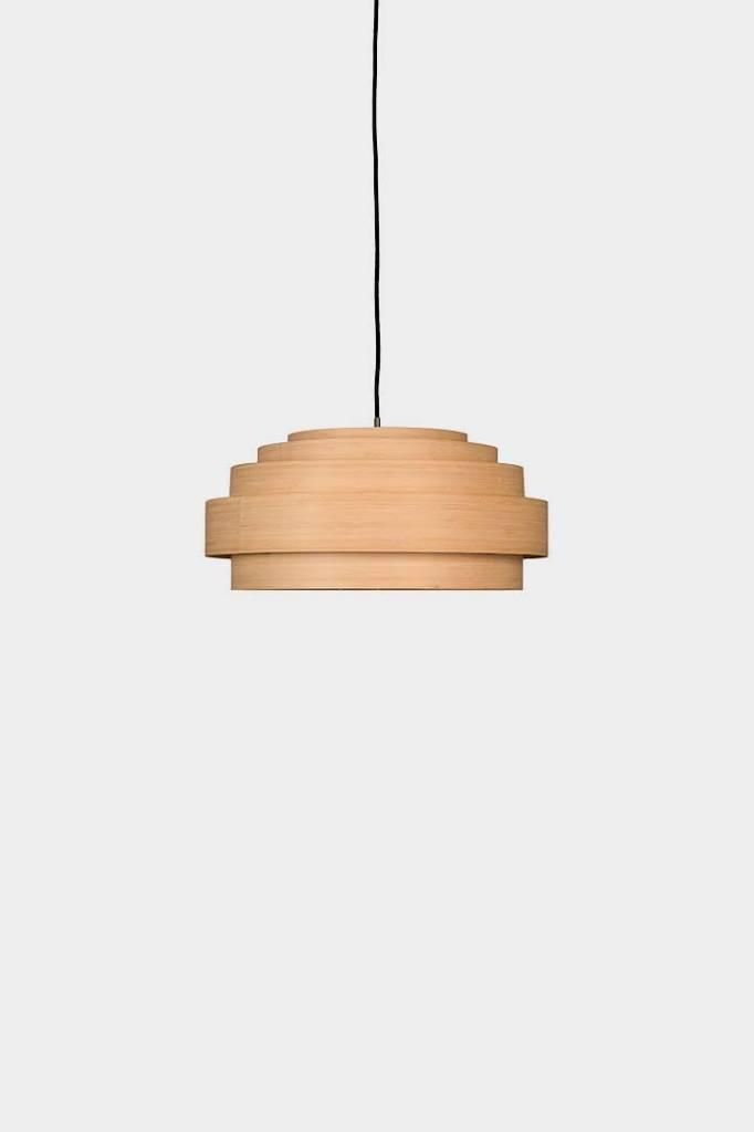 Ay Illuminate Lámpara de suspensión de Thin Wood Small / madera fina - Natural - Ø40x24cm - Ay illuminate