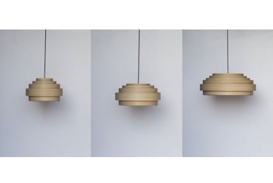 Ay Illuminate Lampen : Ay illuminate bamboo pendant lamp thin wood small natural