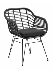 Nordal Black wicker outdoor chair - Nordal