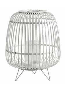 Nordal Bamboo lantern - white - Ø36xH45cm - Nordal