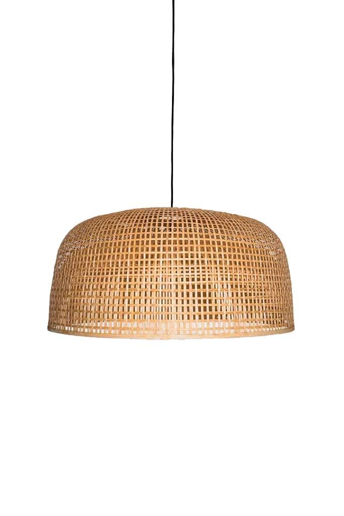 Ay Illuminate Lampe Suspension Bambou Doppio Grid - Naturel - Ø80x41cm - Ay illuminate