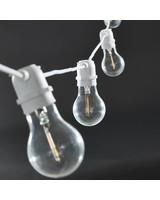 House Doctor Lámparas en Cadena 'Función' - Interior y Exterior - 8.4m - blanco - House Doctor