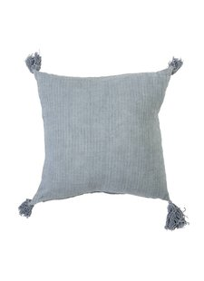 Bloomingville Cushion 100% linen - blue - 50x50 - Bloomingville