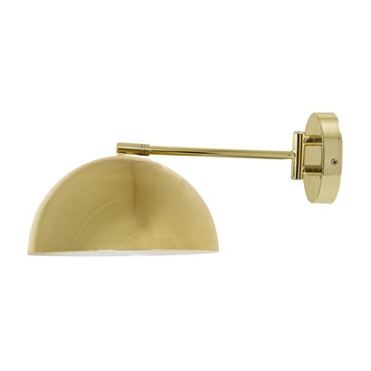 Bloomingville Lámpara de pared, acabado oro, metal - Ø25,5xH20xL40 cm - Bloomingville
