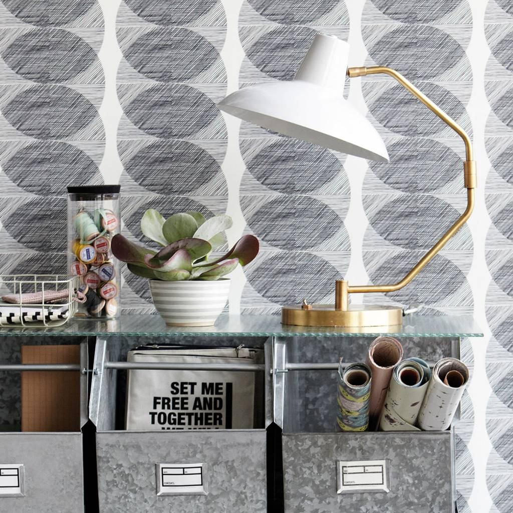 House Doctor Lámpara de mesa, Desk, gris mate, Ø31xa48cm - House Doctor