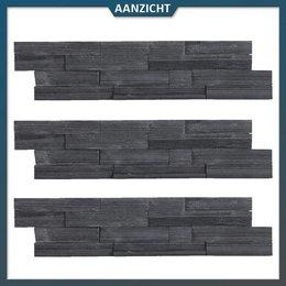Steenstrip Zwart 15x60x1,5/2,5 cm