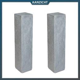 Palissade Chinees Hardsteen Gezoet 12x12x50 cm
