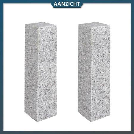 Palissade Graniet Lichtgrijs Gebouchardeerd/gevlamd 12 x 12 centimeter