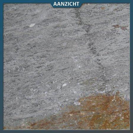 Kwartsiet Bont/Geel Geborsteld 40 x 60 x 3 centimeter