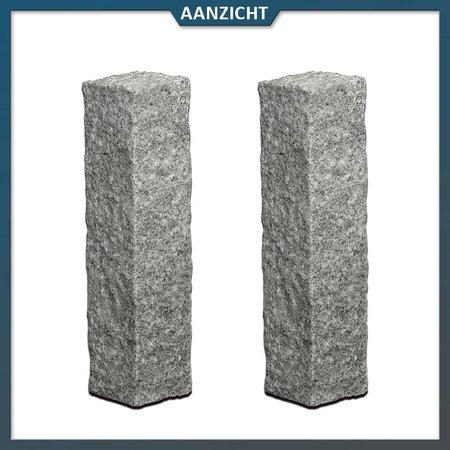 Palissade Graniet Antraciet 12x12 cm