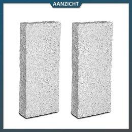 Palissade Graniet lichtgrijs 10x25 cm