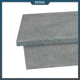 Stootbord en opstap Graniet Antraciet