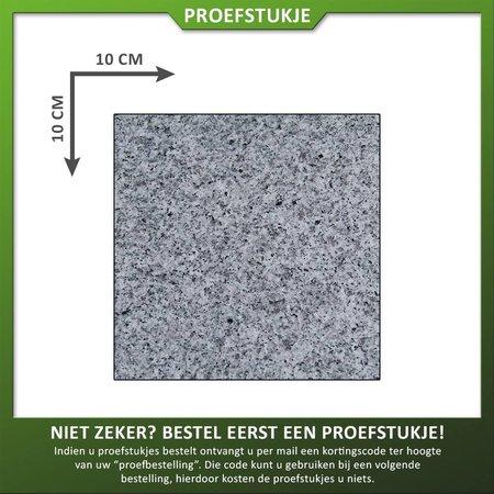 Proefstuk Graniet Lichtgrijs Gevlamd