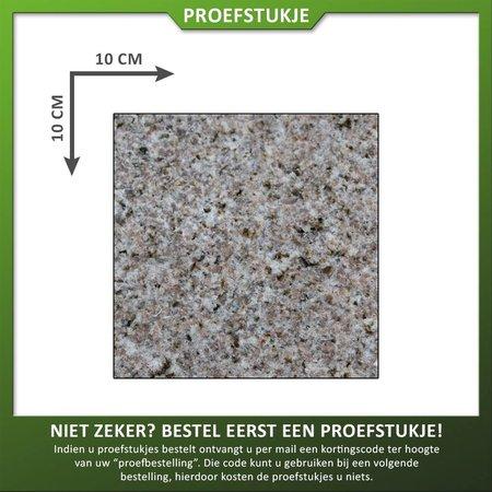 Proefstuk Graniet Geel Gevlamd/geborsteld