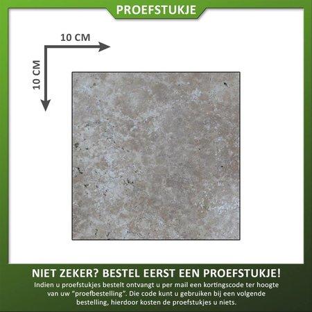 Proefstuk Ivory Beige Gezoet/getrommeld