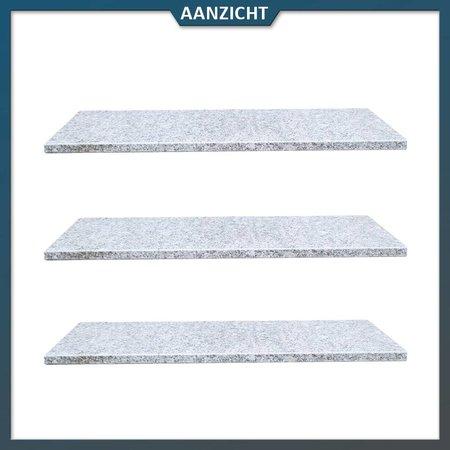 Vijverrand Graniet lichtgrijs met facet 100x35x3 cm