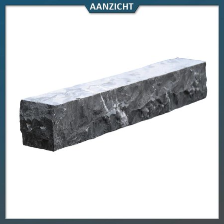 Stapelblok Vietnamees Hardsteen hoekstuk 8x8x50 centimeter