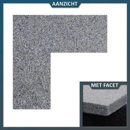 Vijverrand Graniet antra hoekstuk