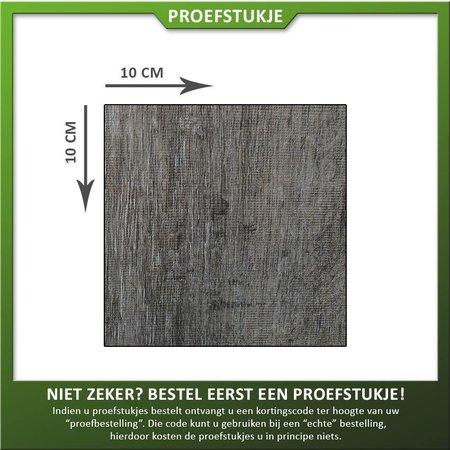 Proefstukje Keramiek houtlook donker