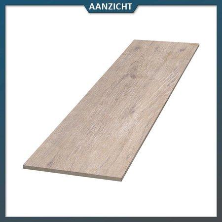 Keramische tegel houtlook Beige 120x30x2 cm