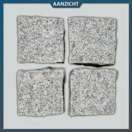 Graniet Lichtgrijs Kinderkoppen Gevlamd/gebroken