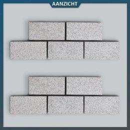 Graniet Klinker Lichtgrijs Gevlamd