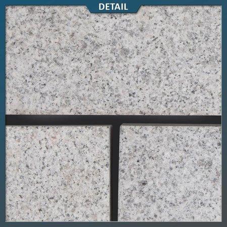 Graniet Klinker Lichtgrijs Gevlamd 20 x 10 x 5 centimeter
