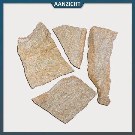 Brons Kwartsiet Flagstones (2-3 cm dik)