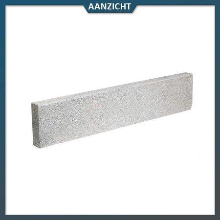 Opsluitband Graniet Grijs met facet 6x20x100 centimeter