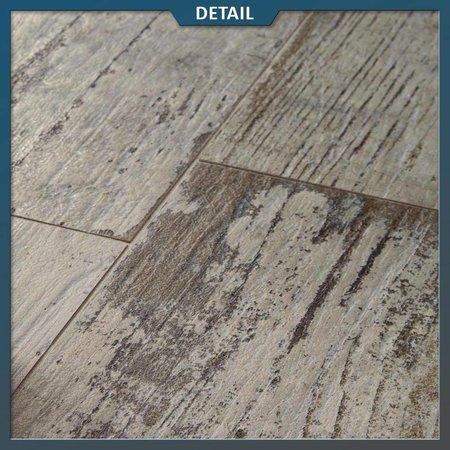Keramische tegel houtlook oud grijs 40x120x2 cm
