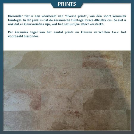 Keramische tegel Brace 40x80,6x2 centimeter