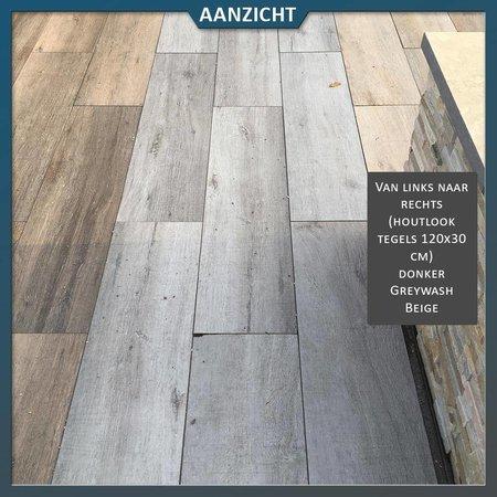 Keramische tegel houtlook Greywash 120x30x2 cm (Cotto d'Este)