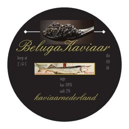 BIOVIS aanbieding 100 gram premium Beluga kaviaar in gouden blik!
