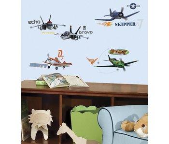 Planes muursticker Dusty, Skipper en meer