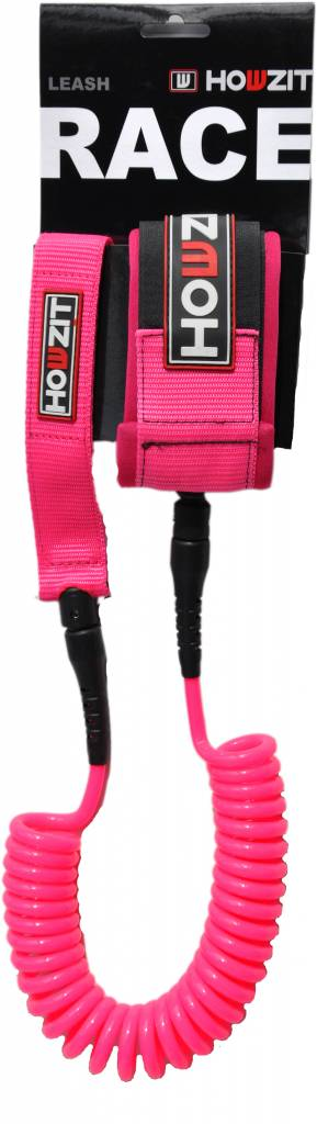 Howzit leash coiled pink