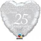 Ballon '25 jaar getrouwd'