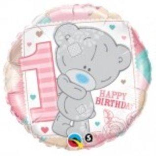Ballon 'Happy Birthday' 1 jaar - meisje