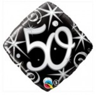 Ballon 'Happy Birthday' 50 jaar