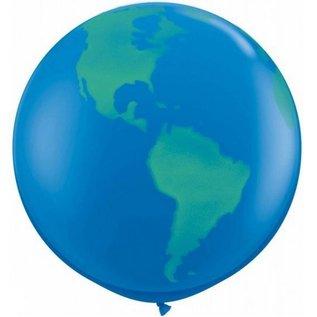 Megaballon wereldbol (91cm)