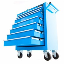Gereedschapswagen 7 laden - blauw