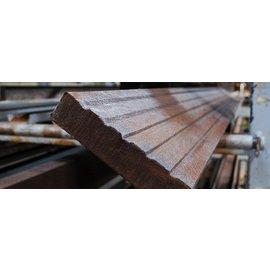 Kunststof vlonderplank 3,9x18x148/152 cm bruin
