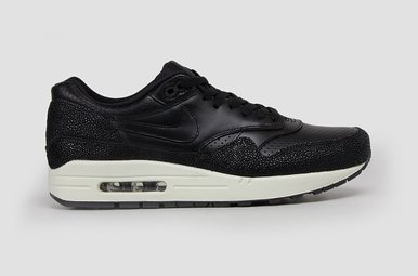 Air Max 1 Schwarz-Leder-Black Sea Glass