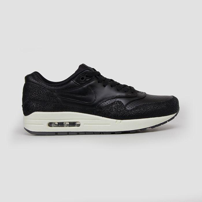 Nike Air Max 1 Black Leather Black Sea Glass