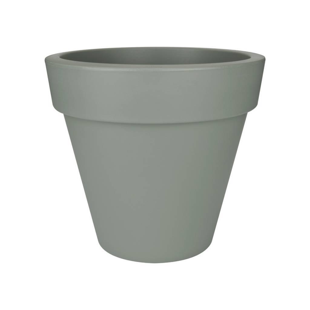 Pot elho pure round gris pierre un large choix de pots en - Pot exterieur gris ...