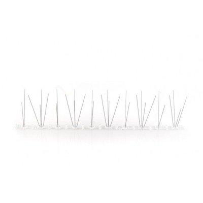 Anti-duivenpinnen op Polycarbonaatstrip 50 cm met 30 pinnen, MIC103