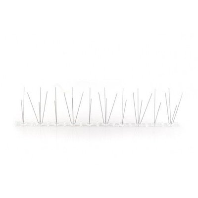 Anti-pigeon bird spikes on Polycarbonate strip 50 cm with 30 spikes, MIC103