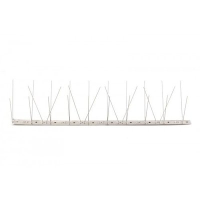 Anti-pigeon bird spikes on STAINLESS STEEL strip 1x100 cm with 60 spikes, MIC760