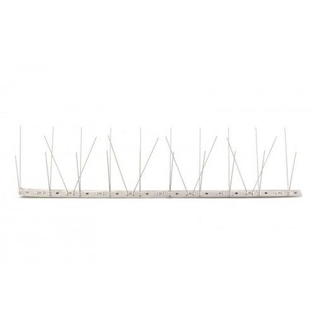 Bird spikes on STAINLESS STEEL base of 100 cm, with 60 SS spikes, MIC760 - 1 m/pc