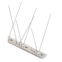 Bird spikes STAINLESS STEEL base, 60 SS  spikes, MIC760 - 1 m/pc